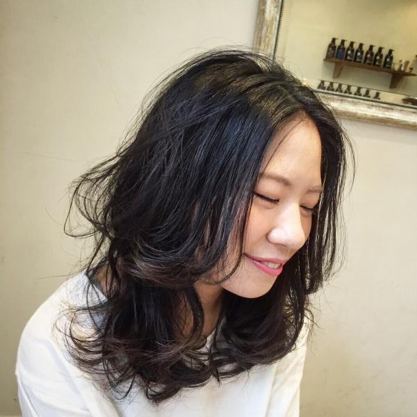 横浜元町 美容室 アゴラルルディ パーマ デジタルパーマ オーガニック ロングヘア